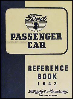 1942 Ford V8 Deluxe and Super Deluxe Car Owner's Manual Package Reprint