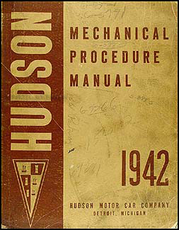 1942 Hudson Shop Manual Original