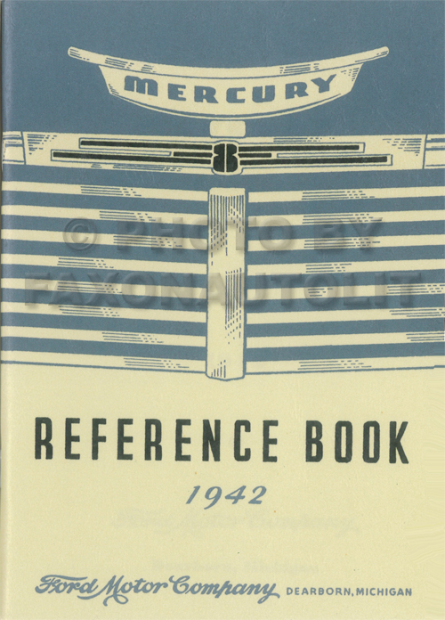 1942 Mercury Owner's Manual Reprint