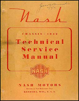 1942 Nash Shop Manual Original