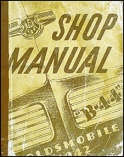 1942 Oldsmobile Repair Manual Original 5 1/2 x 7""