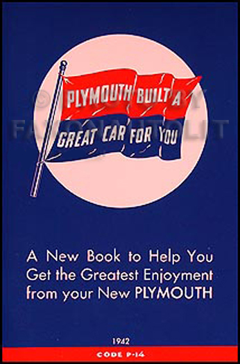 1942 Plymouth Owners Manual Reprint