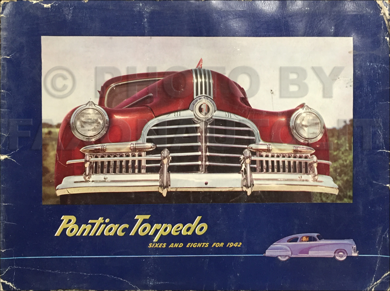 1942 Pontiac Torpedo Color and Upholstery Dealer Album Original