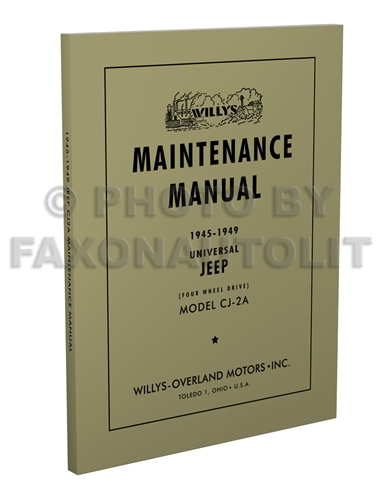 1966-1971 Jeep CJ Shop Manual Reprint CJ 3B 5 5A 6 6A Universal