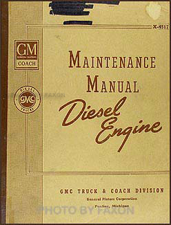1945-1946 GMC Diesel Engine Repair Manual Original