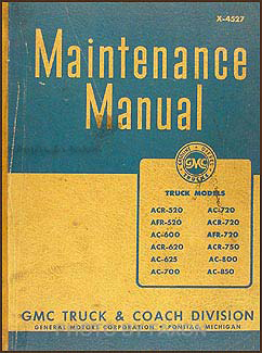 1944-1946 GMC 520-850 Repair Manual Original