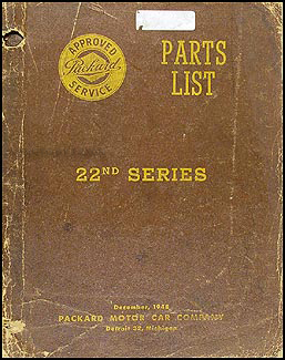 1948-1949 Packard Master Parts Book Original