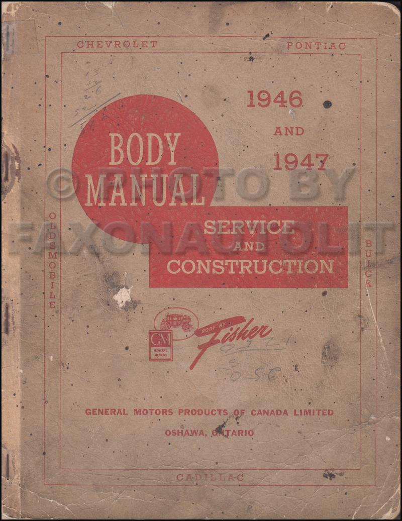 1946-1948 Fisher Body Repair Shop Manual Original CANADIAN