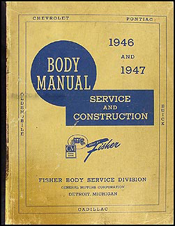 1946-1947 Cadillac Body Repair Manual Original