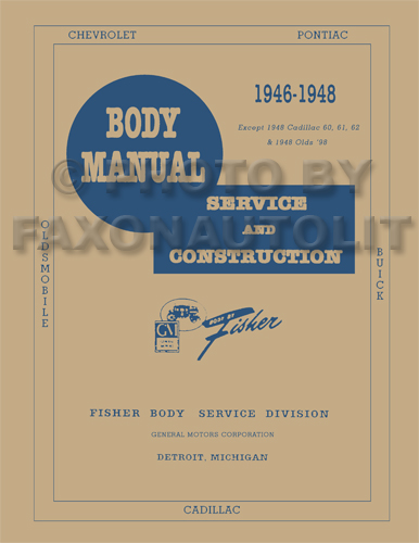 1946-1948 Oldsmobile Reprint Body Manual