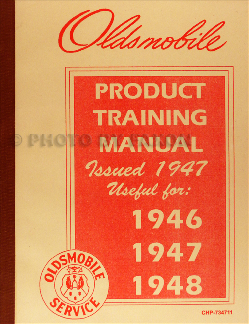 1946-1948 Oldsmobile Shop Manual Supplement Original