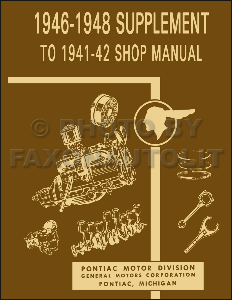 1946-1948 Pontiac Repair Shop Manual Reprint Supplement