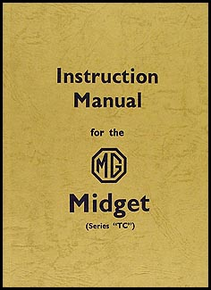 1946-1949 MG Midget TC Instruction Manual Reprint