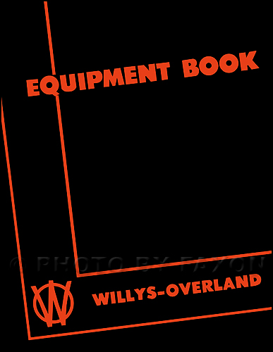 1946-1949 Willys Jeep Equipment Manual Reprint CJ-2A & Truck