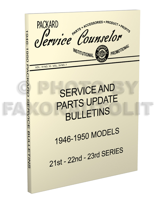 1946-1950 Packard Service Bulletins & Parts Updates Reprint