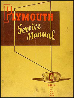 1946-1950 Plymouth Shop Manual Original