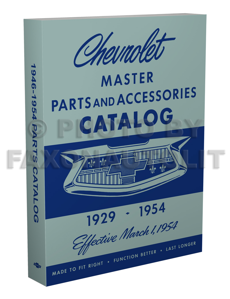 1946-1954 Chevrolet Parts Book Reprint