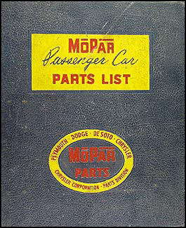 1946-1954 MoPar Parts Book Original
