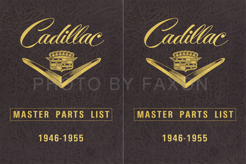 1946-1955 Cadillac Master Parts and Accessories Book Reprint