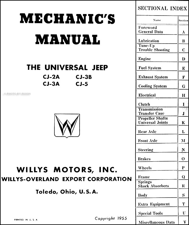 1946-1955 Willys Jeep CJ Repair Shop Manual Original CJ-2A CJ-3A CJ on columbia wiring diagram, lincoln wiring diagram, mustang wiring diagram, cj2a wiring diagram, cj5 wiring diagram, renegade wiring diagram, bmw wiring diagram, jeep wiring diagram, chevrolet wiring diagram, grand wagoneer wiring diagram, cj7 wiring diagram, m38a1 wiring diagram, triumph wiring diagram, pickup wiring diagram, jaguar wiring diagram, mercury wiring diagram, chrysler wiring diagram, toyota wiring diagram, nissan wiring diagram, dodge wiring diagram,
