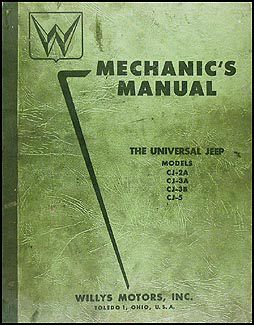 1946-1955 Willys Jeep CJ Repair Shop Manual Original CJ-2A CJ-3A CJ-3B CJ-5