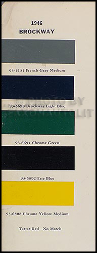 1946 Brockway Truck Original Paint Chips