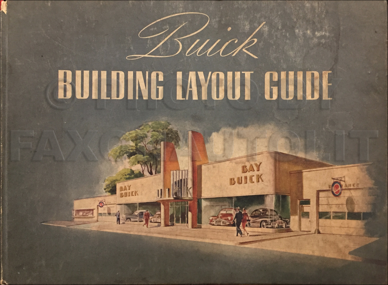 1945-1946 Buick Building Layout Dealer Album Original