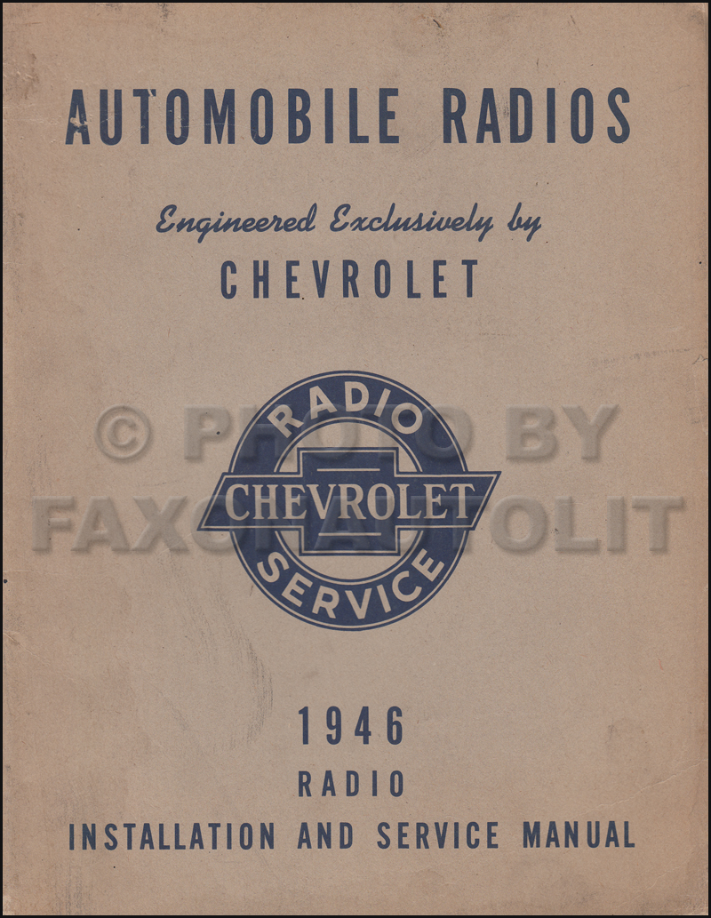1946 Chevy Radio Manual Original Car & Truck
