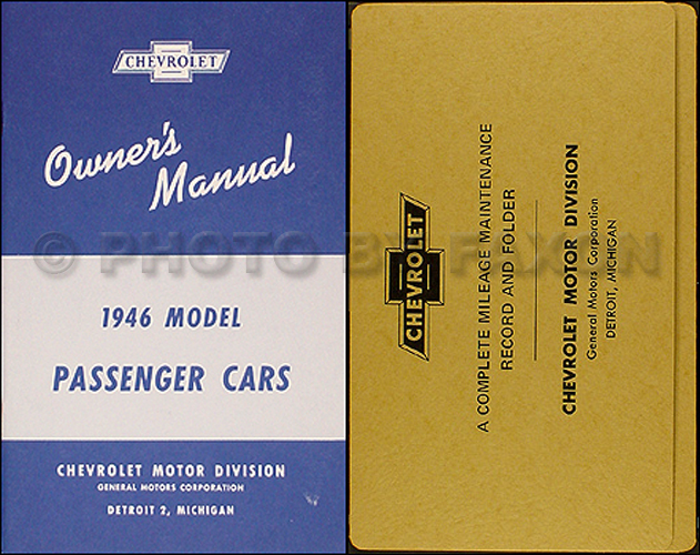 1946 Chevrolet Car Reprint Owner's Manual Package