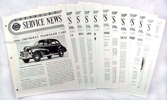 1946 Chevrolet Car & Truck Service News Reprint Set of 11 issues