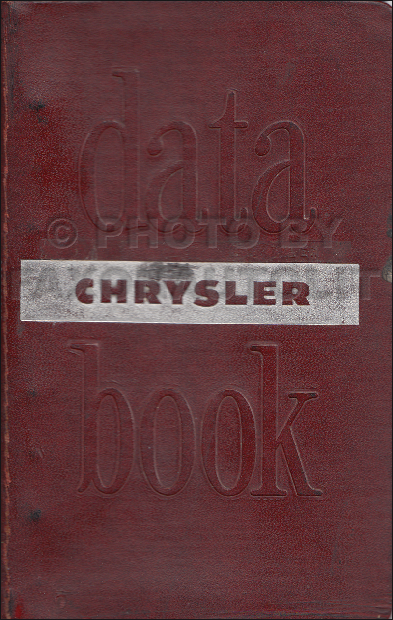 1946-1948 Chrysler Data Book Original
