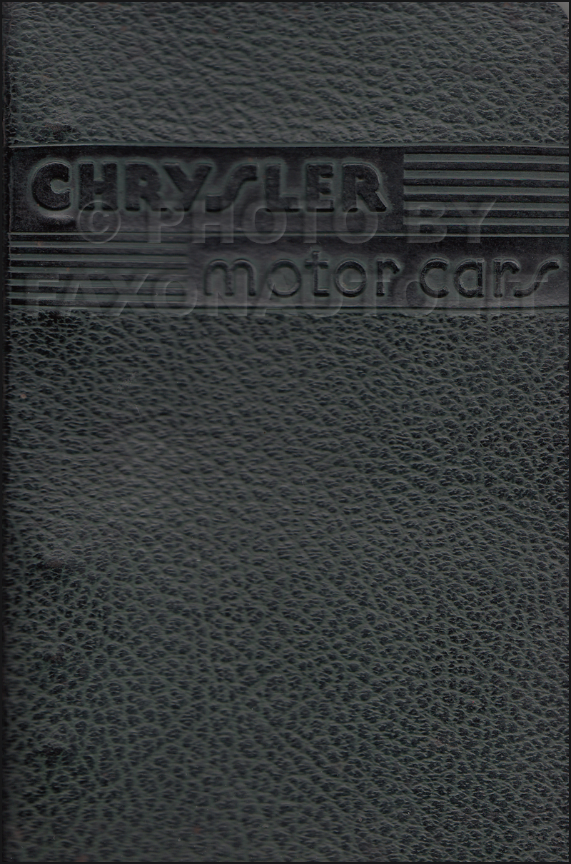 1946 Chrysler Data Book Original