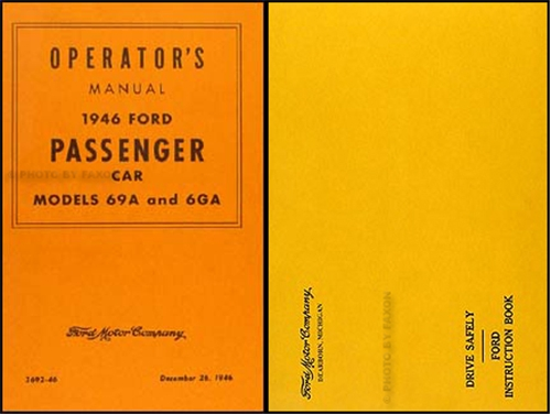 1946 Ford Car Owner's Manual Reprint