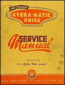 1946 Oldsmobile Hydra-Matic Transmission Canadian Repair Shop Manual Original