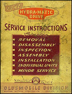 1946 Oldsmobile Hydra-Matic Transmission Repair Manual Original