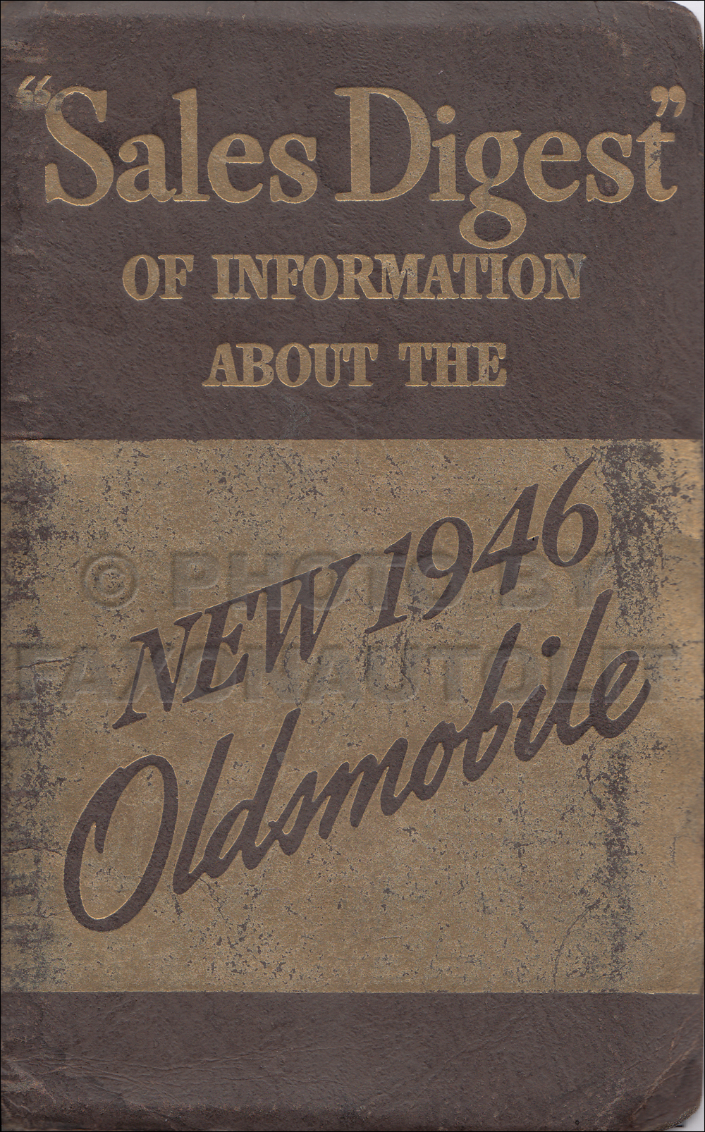 1946 Oldsmobile Data Book Original