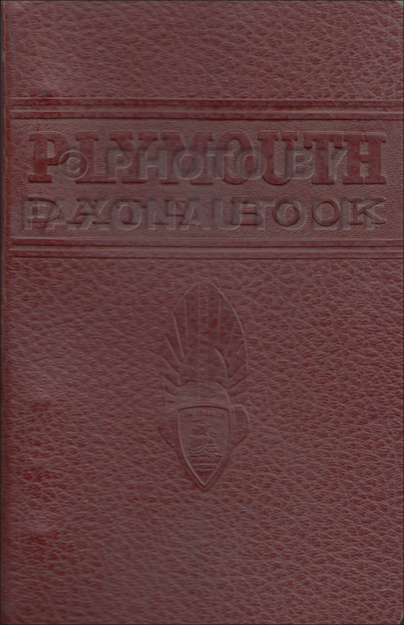 1946 Plymouth Data Book Original