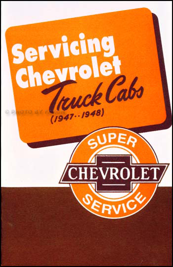 old listing for 1947-1948 Chevrolet Truck Cab Service Manual for 1947-1955 Series I