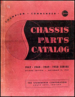 1947-1950 Studebaker Champion Commander Mechanical Part Book Original
