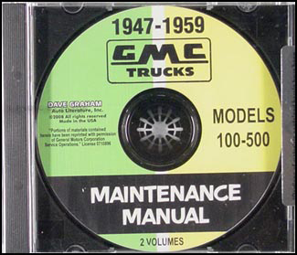 1947-1959 GMC Pickup Trucks 100-500 CD Shop Manual