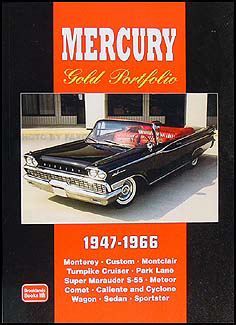 1947-1966 Mercury Gold Portfolio of 62 Magazine Articles