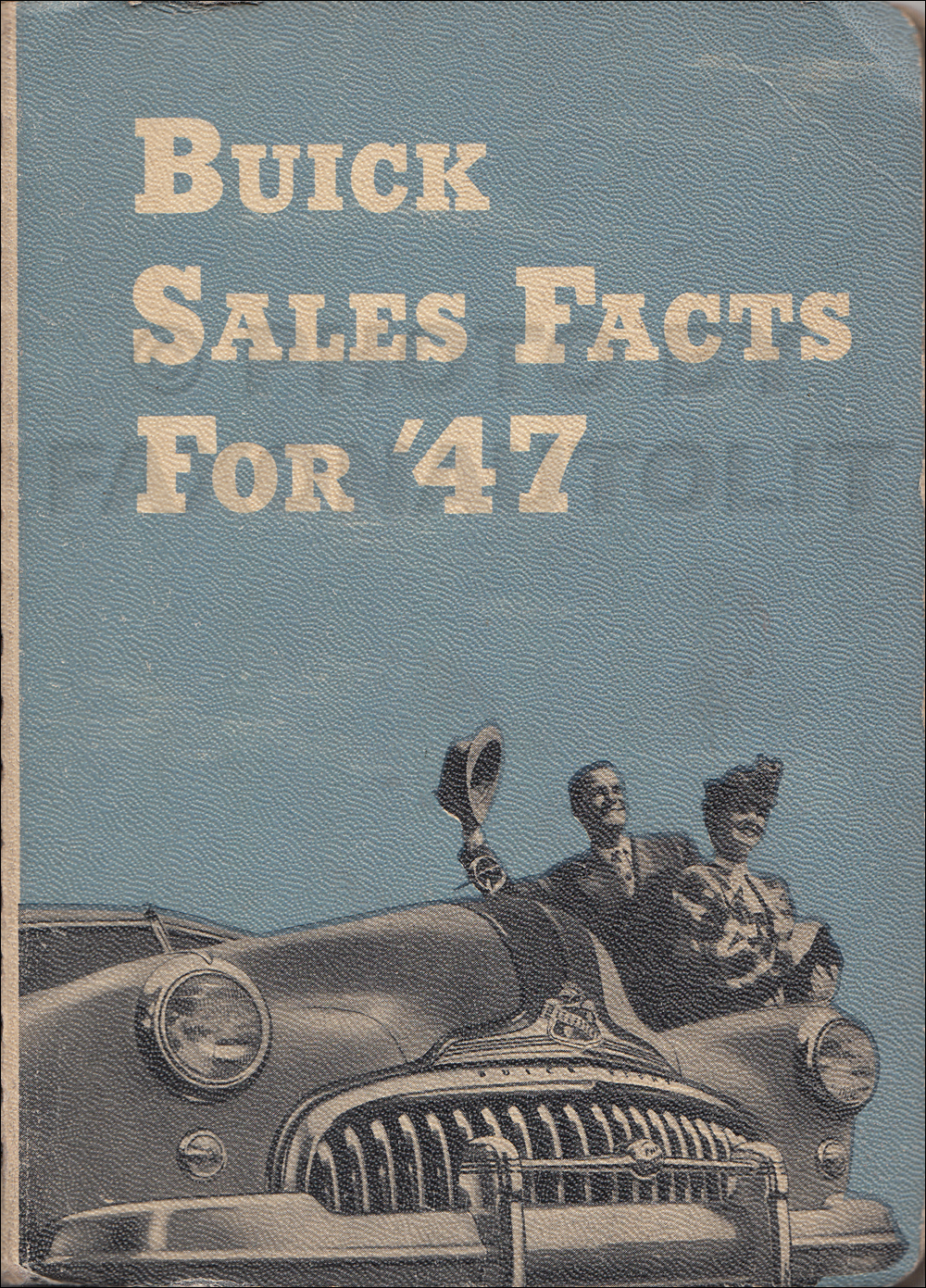 1947 Buick Sales Facts Book Original