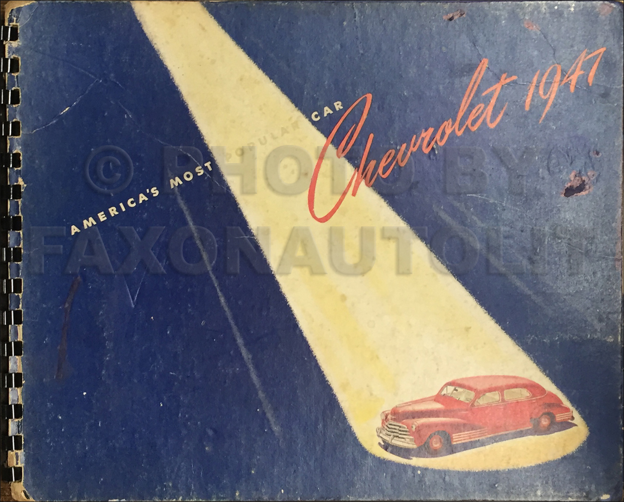 1947 Chevrolet Dealer Album Original