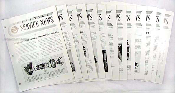 1947 Chevrolet Car & Truck Service News Reprint (set of 12 issues)