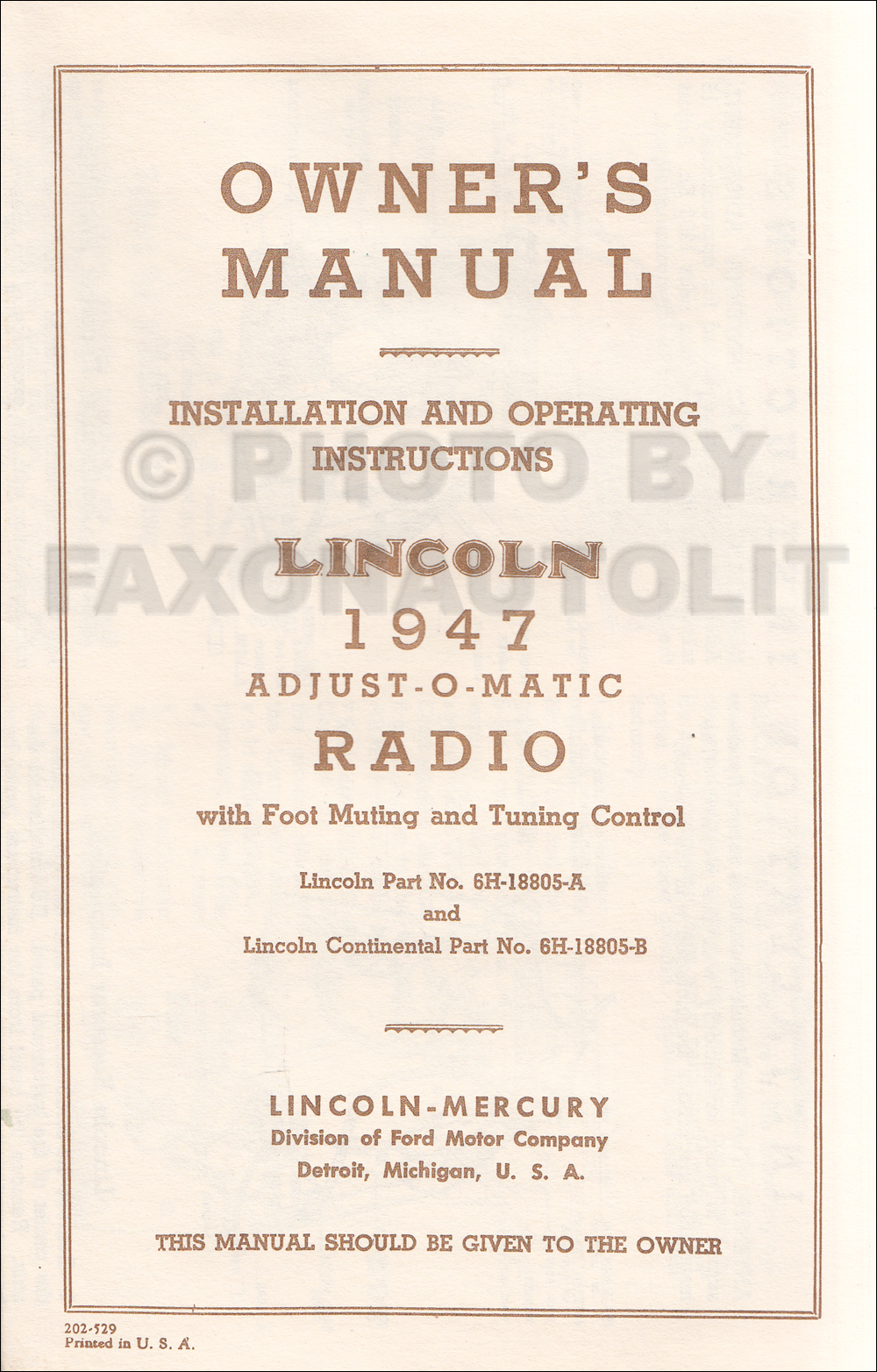 1936 1948 Lincoln V12 Engine Repair Shop Manual Reprint 1946 Wiring 1947 Radio Installation And Owner Operating