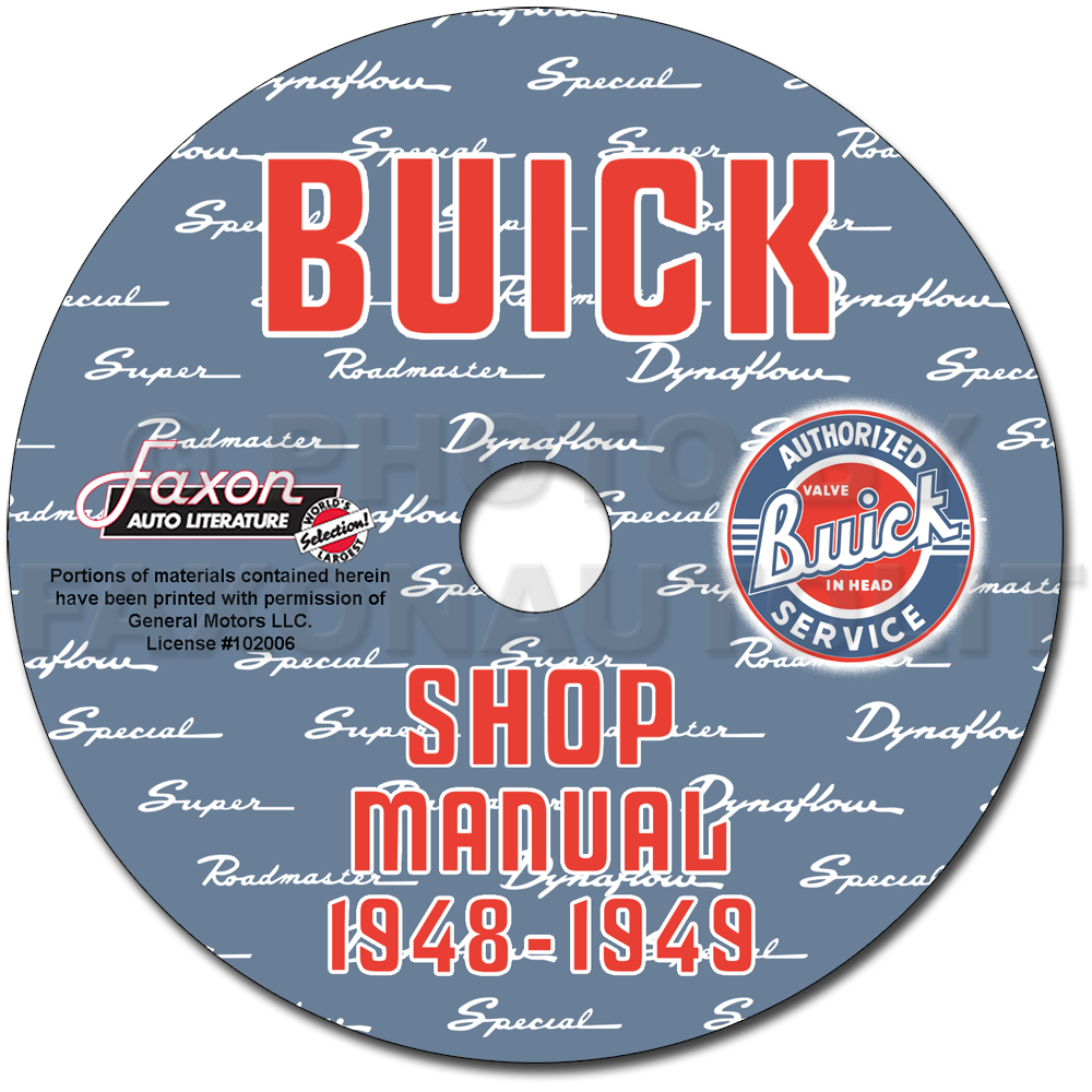 1948-1949 Buick Shop Manual & Dynaflow Manual on CD-ROM