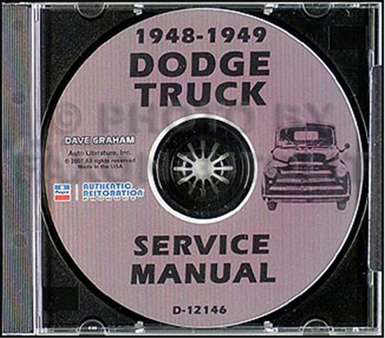 1948-1949 Dodge Pickup & Truck CD-ROM Shop Manual B-1 series