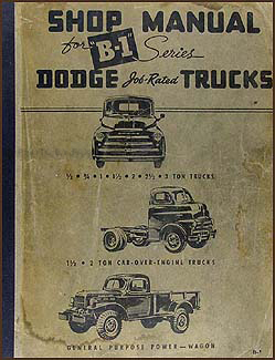 1948-1949 Dodge Truck Shop Manual Original