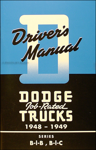 1948-1949 Dodge B-1 Pickup Truck Owner's Manual Reprint