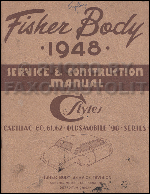 1948-1949 Olds 98 & Cadillac Original Body Repair Manual